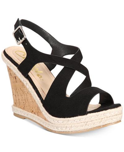 Callisto Brielle Platform Wedge Sandals