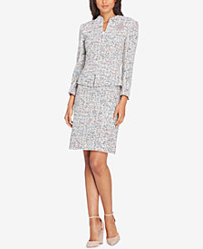 Tahari ASL Embellished Tweed Bouclé Skirt Suit