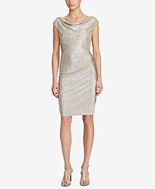 Lauren Ralph Lauren Metallic Cowl-Neck Dress