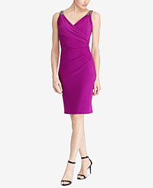 Lauren Ralph Lauren Beaded Slim Fit Dress