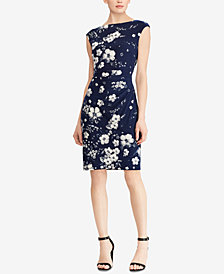 Lauren Ralph Lauren Floral-Print Sheath Dress, Regular & Petite Sizes