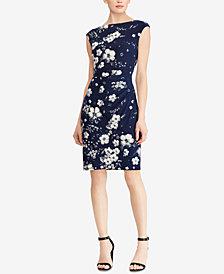Lauren Ralph Lauren Floral-Print Sheath Dress, Regular & Petite Sizes