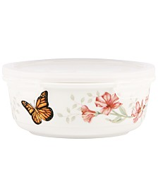Lenox Butterfly Meadow Serving and Storage Bowl with Lid