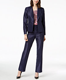 Le Suit One-Button Shine Pantsuit