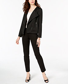 Alfani Moto Jacket, Tank Top & Slim-Leg Pants, Created for Macy's