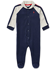 Ralph Lauren Baby Boys Shawl-Collar Coverall