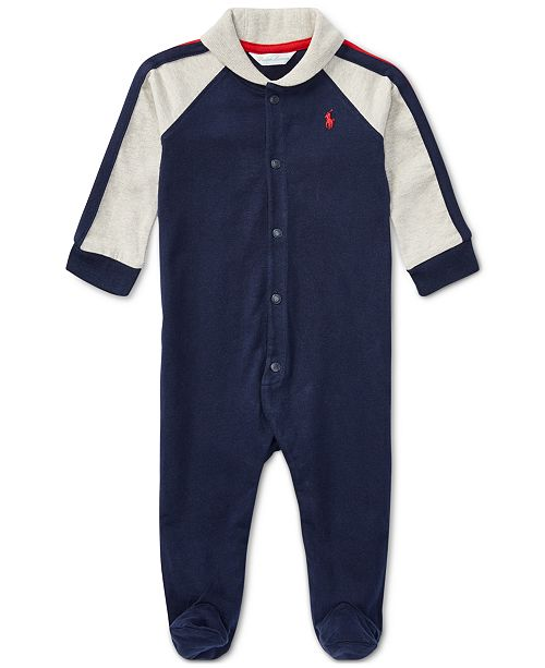 Polo Ralph Lauren Ralph Lauren Baby Boys Shawl-Collar Coverall