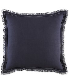"Tommy Hilfiger Menemsha Cotton Reversible Textured 20"" Square Decorative Pillow"