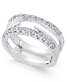 Diamond Enhancer Ring Guard (3/4 ct. t.w.) in 14k White Gold