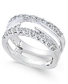 Diamond Enhancer Ring Guard (3/4 ct. t.w.) in 14k White Gold