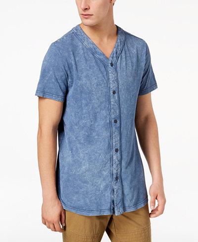American Rag Men's Indigo Baseball Shirt, Created for Macy's