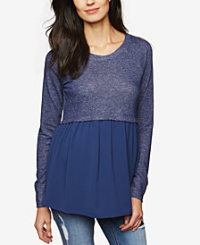 Motherhood Maternity Plus Size Layered-Look Top