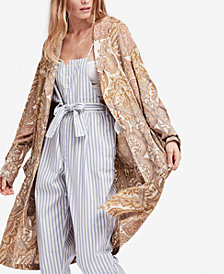 Free People Half Moon Printed Duster Jacket