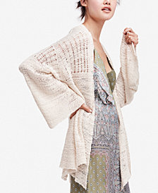 Free People In My Element Knit Open-Front Kimono