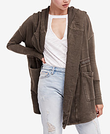 Free People Studio City Hooded Cotton Cardigan