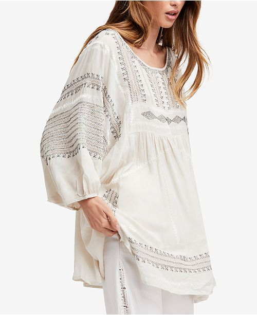 5f1909bb213 Free People Wild One Oversized Embroidered Tunic & Reviews ...