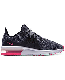 Nike Big Girls' Air Max Sequent 3 Running Sneakers from Finish Line