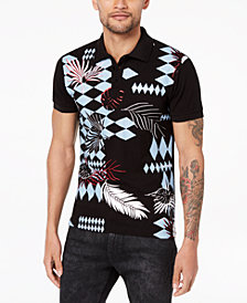 Versace Men's Optical Graphic-Print Polo