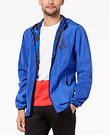 Versace Men's Reversible Cobalt Tiger-Print Jacket