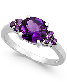 Amethyst Ring (1-5/8 ct. t.w.) in 14k White Gold
