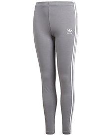 adidas Originals Three-Stripe Leggings, Big Girls