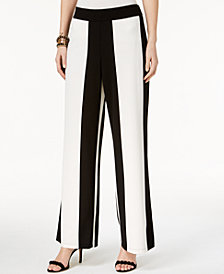 I.N.C. Striped Wide-Leg Pants, Created for Macy's