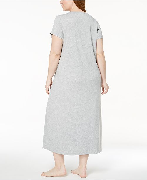 fa5ca45838 Alfani Plus Size Ruched-Waist Floral-Print Knit Nightgown