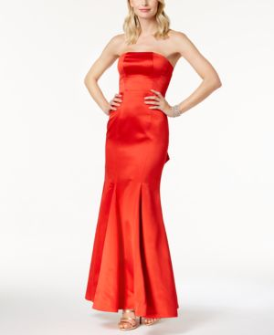 FAME AND PARTNERS THE JANVIER STRAPLESS MERMAID GOWN