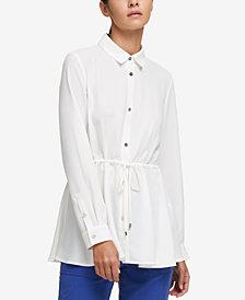 DKNY Drawstring Shirt, Created for Macy's