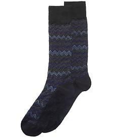 Perry Ellis Men's Chevron-Print Dress Sock
