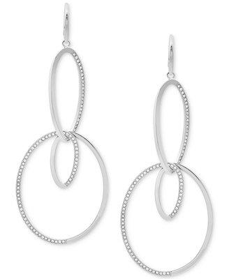 Pavé Double Loop Drop Earrings by Michael Kors