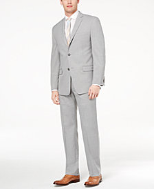 Marc New York by Andrew Marc Men's Classic-Fit Stretch Light Gray Solid Suit