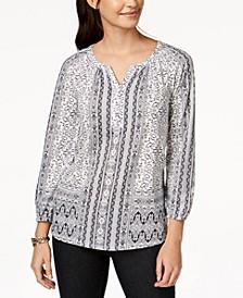 Split-Neck Blouson Top, Created for Macy's