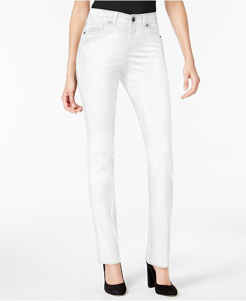 1fba644a974 ... Style   Co Tummy-Control Straight-Leg Jeans