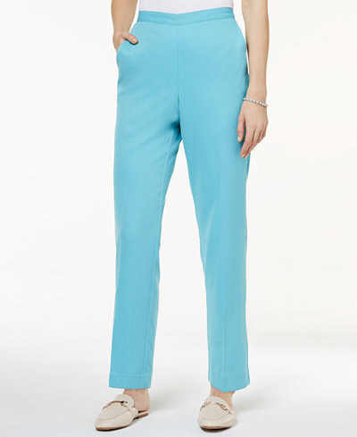 Alfred Dunner Bonita Springs Straight-Leg Pants