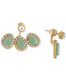 RACHEL Rachel Roy Gold-Tone Blue Stone Floater Earrings