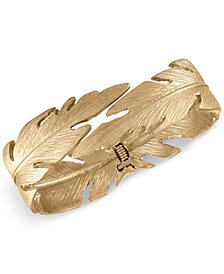 RACHEL Rachel Roy Gold-Tone Feather Bangle Bracelet