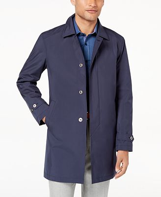 Con.Struct Men's Navy Packable Trench Coat, Created for Macy's