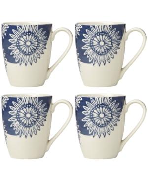 Lenox Market Place Indigo Mugs Set of 4