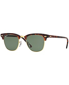 Polarized Sunglasses, RB3016 CLUBMASTER