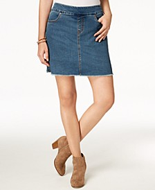 Petite Pull-On Frayed-Hem Skort, Created for Macy's