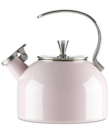 kate spade new york All in Good Taste Blush Tea Kettle