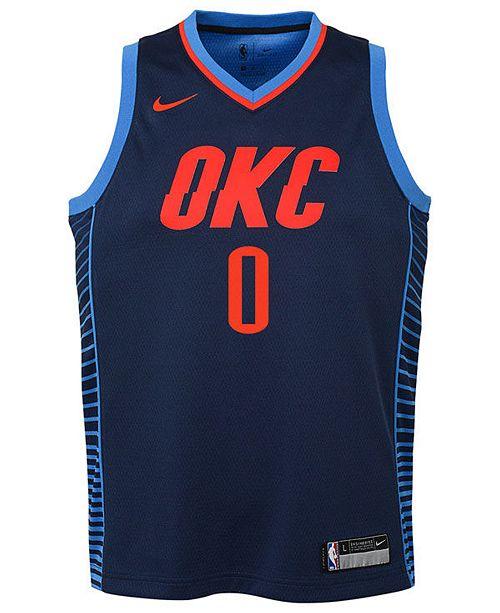 50ba2d1f9 Nike Russell Westbrook Oklahoma City Thunder Statement Swingman Jersey