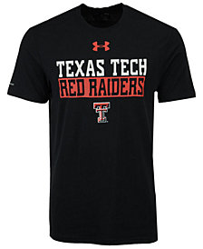 Under Armour Men's Texas Tech Red Raiders Lead Block Charged T-Shirt