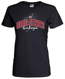 J America Women's Ohio State Buckeyes Arch Script Logo T-Shirt