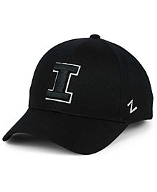 Zephyr Illinois Fighting Illini Black & White Competitor Cap