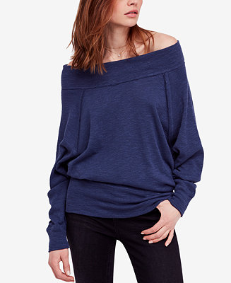 Free People Palisades Off The Shoulder Sweater Reviews Tops Women Macy S
