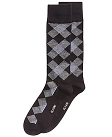 Men's Diamond Dress Socks, Created for Macy's