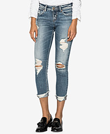Silver Jeans Co. Suki Mid Rise Curvy Skinny Cop Jeans