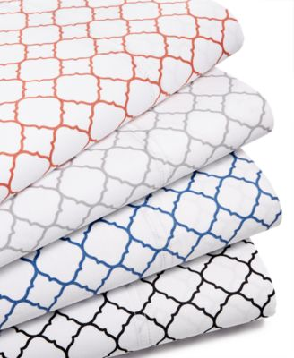 Printed Geo Extra Deep King 4-pc Sheet Set, 500 Thread Count, Created for Macy's